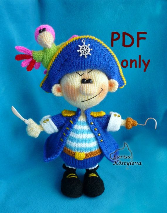 Pirate,knitting amigurumi,PDF pattern | muñecas d punto | Pinterest ...