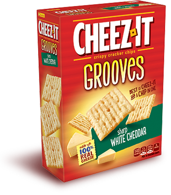 Cheez It Cheez It Grooves Original Cheddar Cheez It Crispy Crackers Cheese Snacks