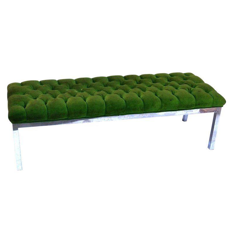 007 Bench in Emerald Velvet | Bedroom