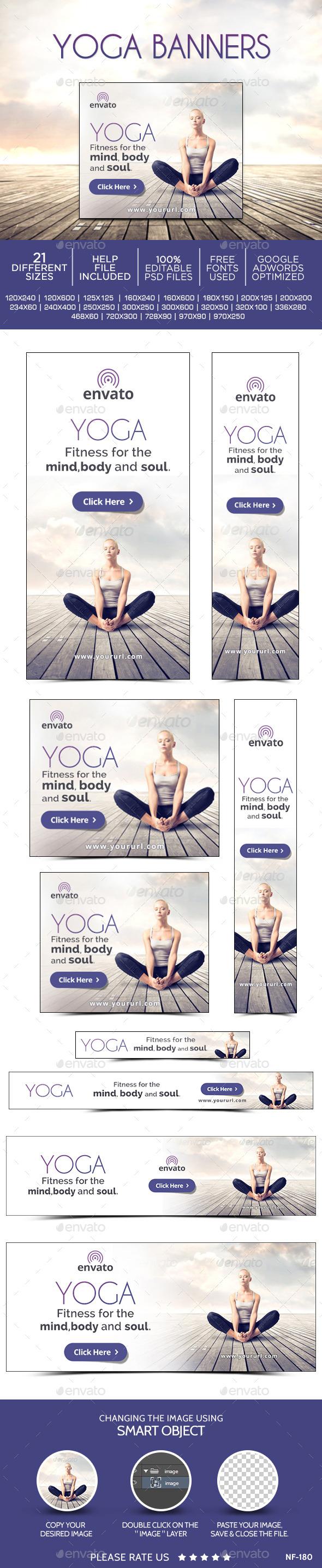 Yoga Banners | Diseño de folletos, Tríptico y Folletos