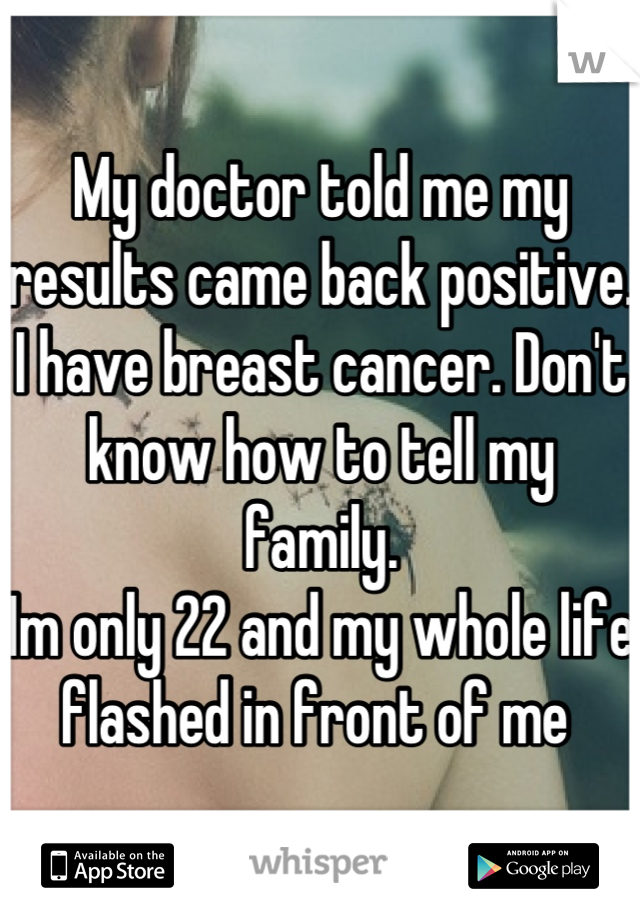 how to tell if u have breast cancer