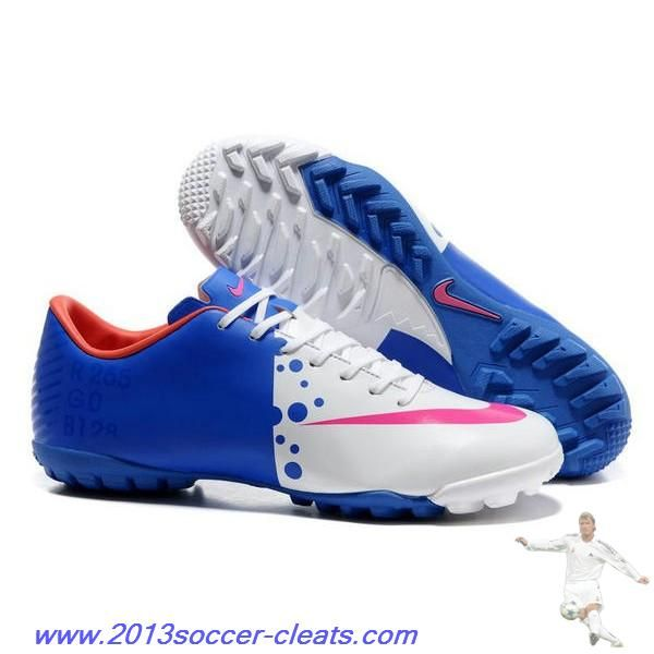 Authentic Euro Nike Mercurial Victory VIII TF Blue White Pink For Sale