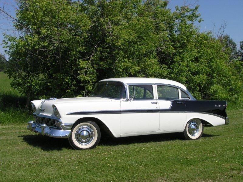 1956 Chevrolet Bel Air 4-Door Sedan. http://classic-auto-trader ...