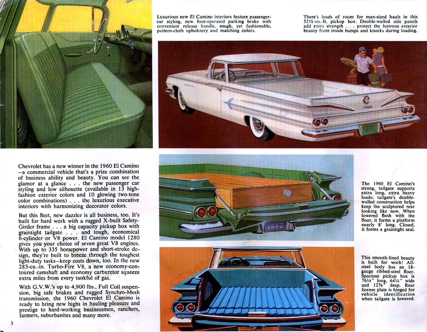 1960 Chevrolet El Camino Chevrolet El Camino Automotive Illustration Car Ads