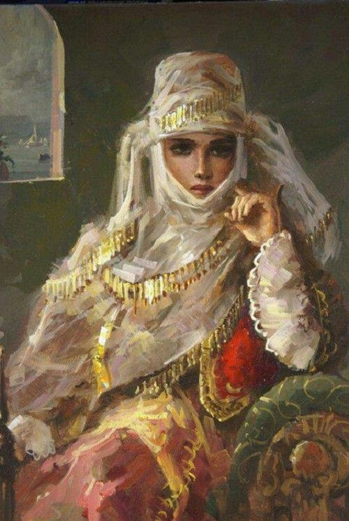 Turkish beauty in Paintings of Remzi Taşkıran  Prominent Turkish