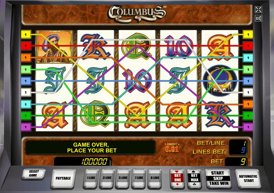 Игровые автоматы онлайн коламбус законы об игровые автоматы поро