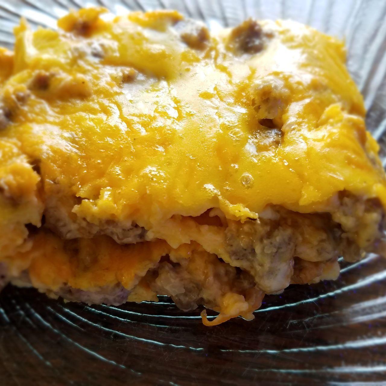 Keto Sausage And Cream Cheese Breakfast Casserole Recipe