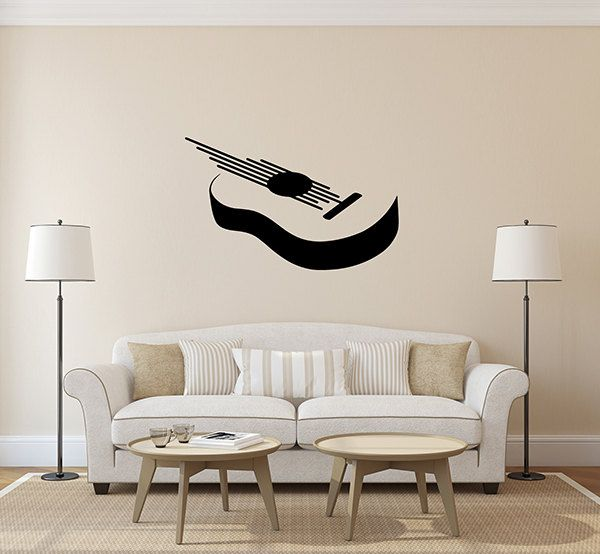 Kik157 Wall Decal Sticker Guitar Silhouette Rock Music Abstract Living Room Bedroom