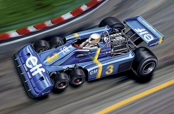 Tyrrell 6 Wheel Formula 1 Car