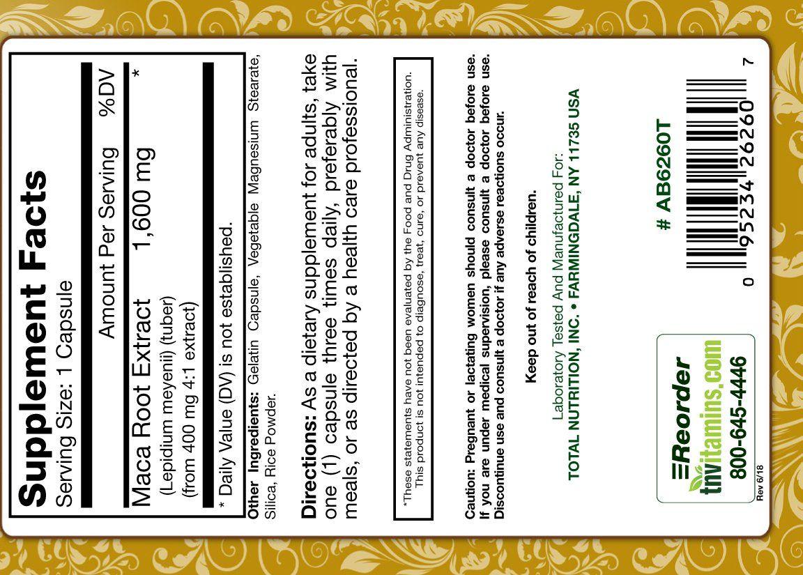TNVitamins Maca Root Extract 1600 Mg Per Capsule 60 ...