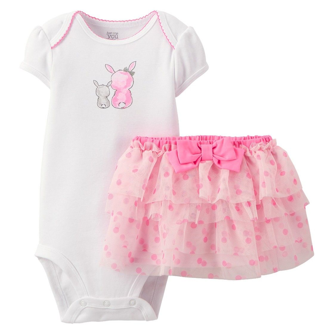f4b39168fcf5 Just One You  Made by Carter s  Newborn Girls  Bunny 2 Piece Set ...