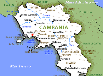 Cilento Region Italy Map.Map Of Campania Naples And Amalfi Coast Italy Obsessed With
