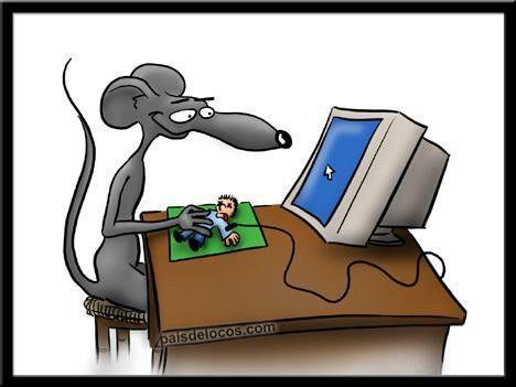 El raton con el ordenador...