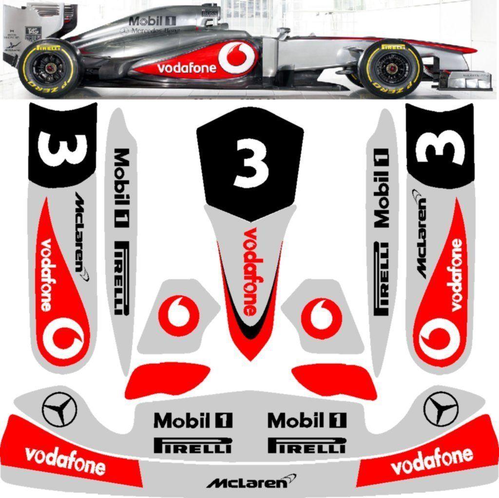 Formula 1 Mclaren Sticker Kit For Tonykart Otk M4 Pods Nosecone Nassau Panel Sticker Kits Mclaren Formula 1 [ 1022 x 1024 Pixel ]