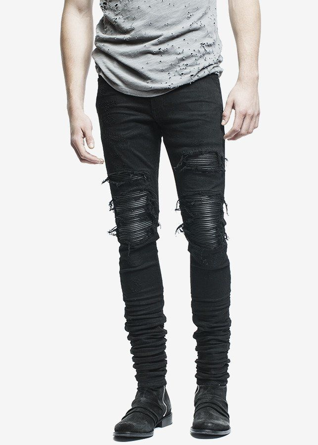 9922be9a4e31 Amiri MX1 Jean Black. Amiri MX1 Jean Black Biker Jeans Men, Skinny Biker  Jeans, Ripped ...