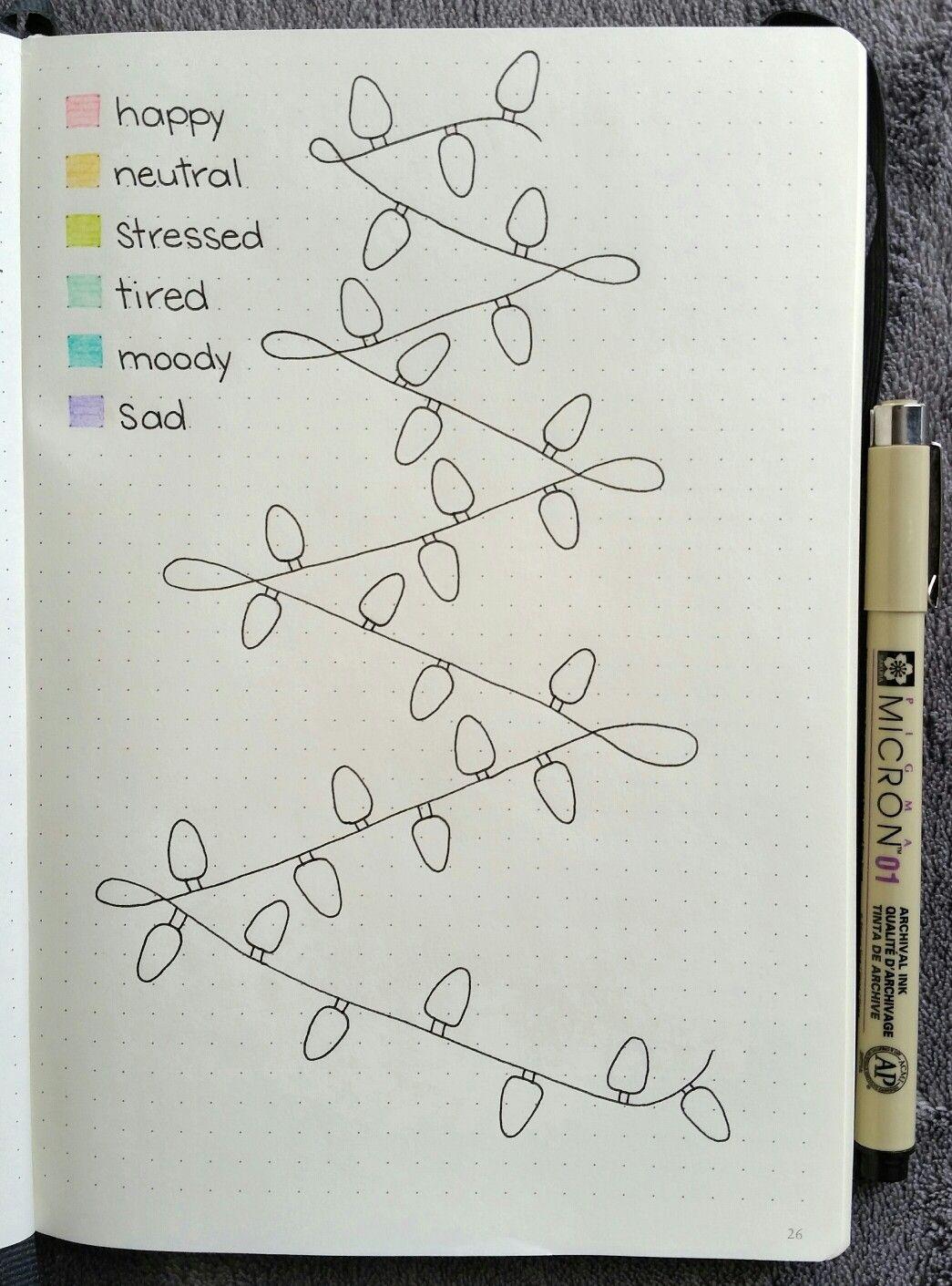Christmas Lights Mood Tracker