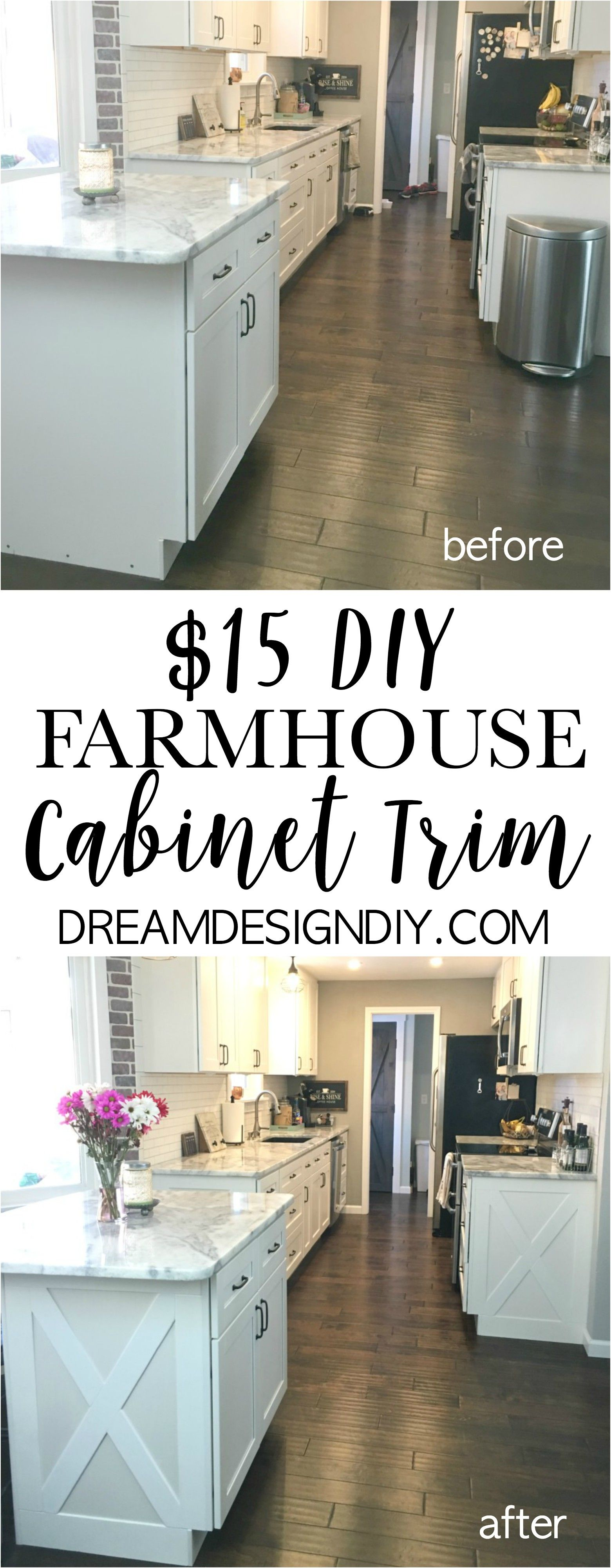 Adding character to your kitchen - Farmhouse Cabinet Trim ...