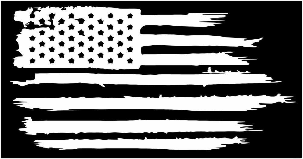 c95fc833011 American flag weathered distressed vinyl die cut sticker decal ...