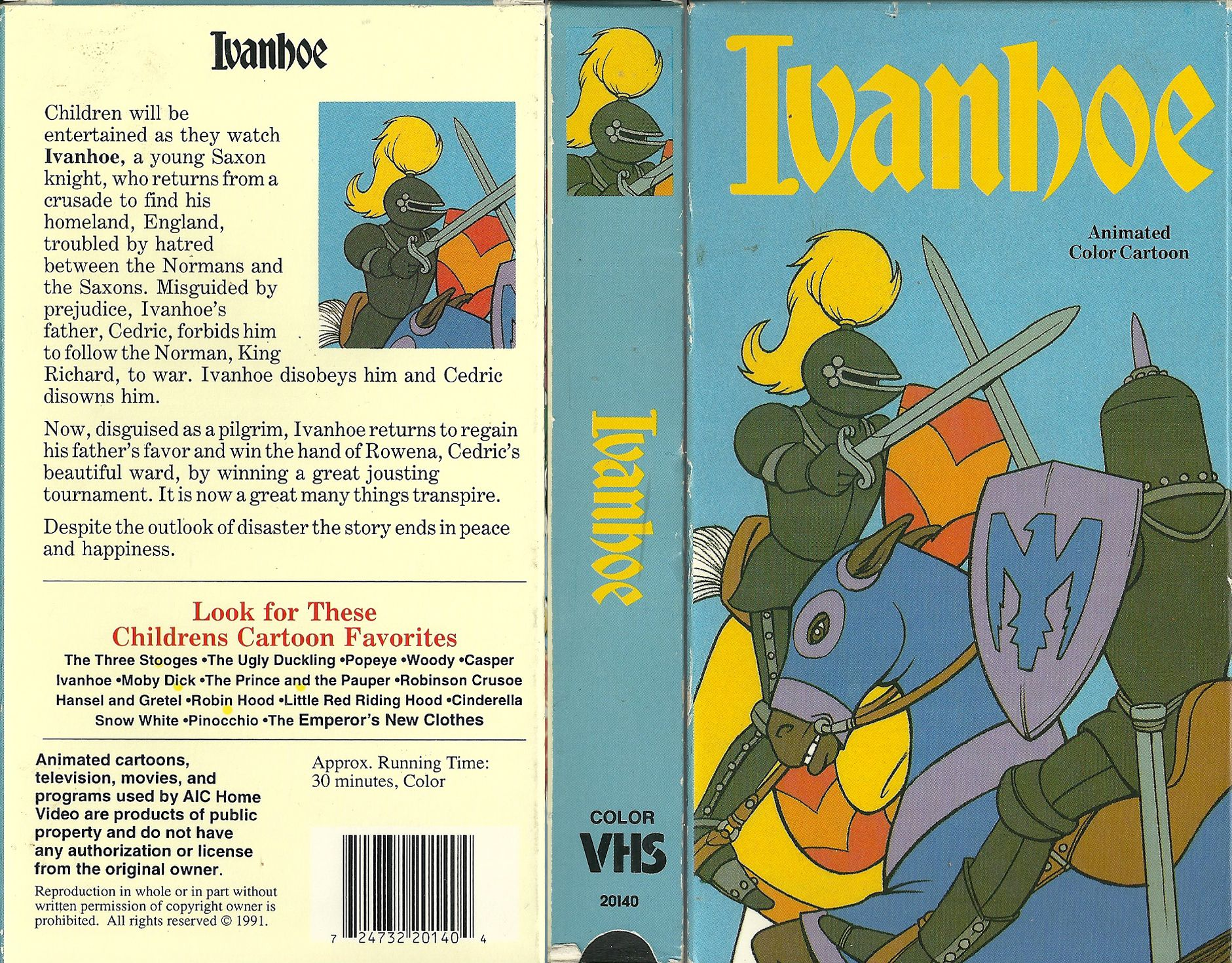 Ivanhoe VHS (Burbank Films) Nostalgia Pinterest