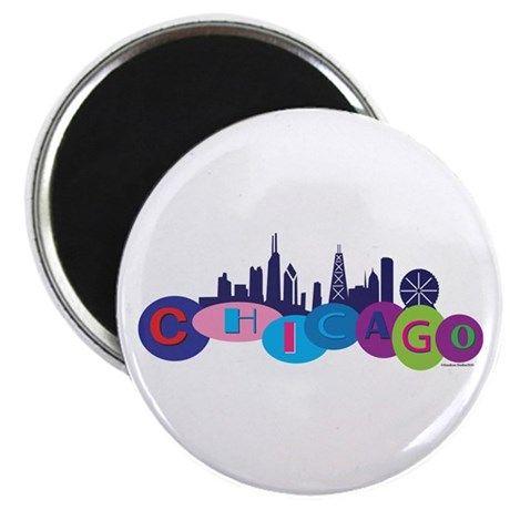 Chicago Circles And Skyline Magnet on CafePress.com