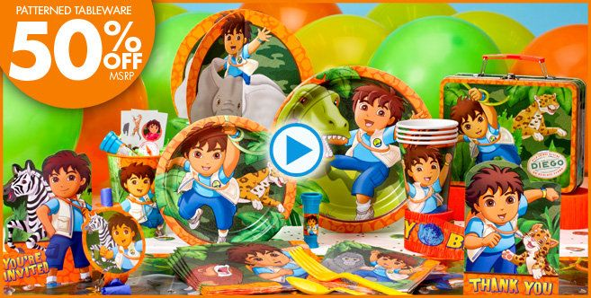 Go Diego Go Party Supplies Go Diego Go Birthday Party