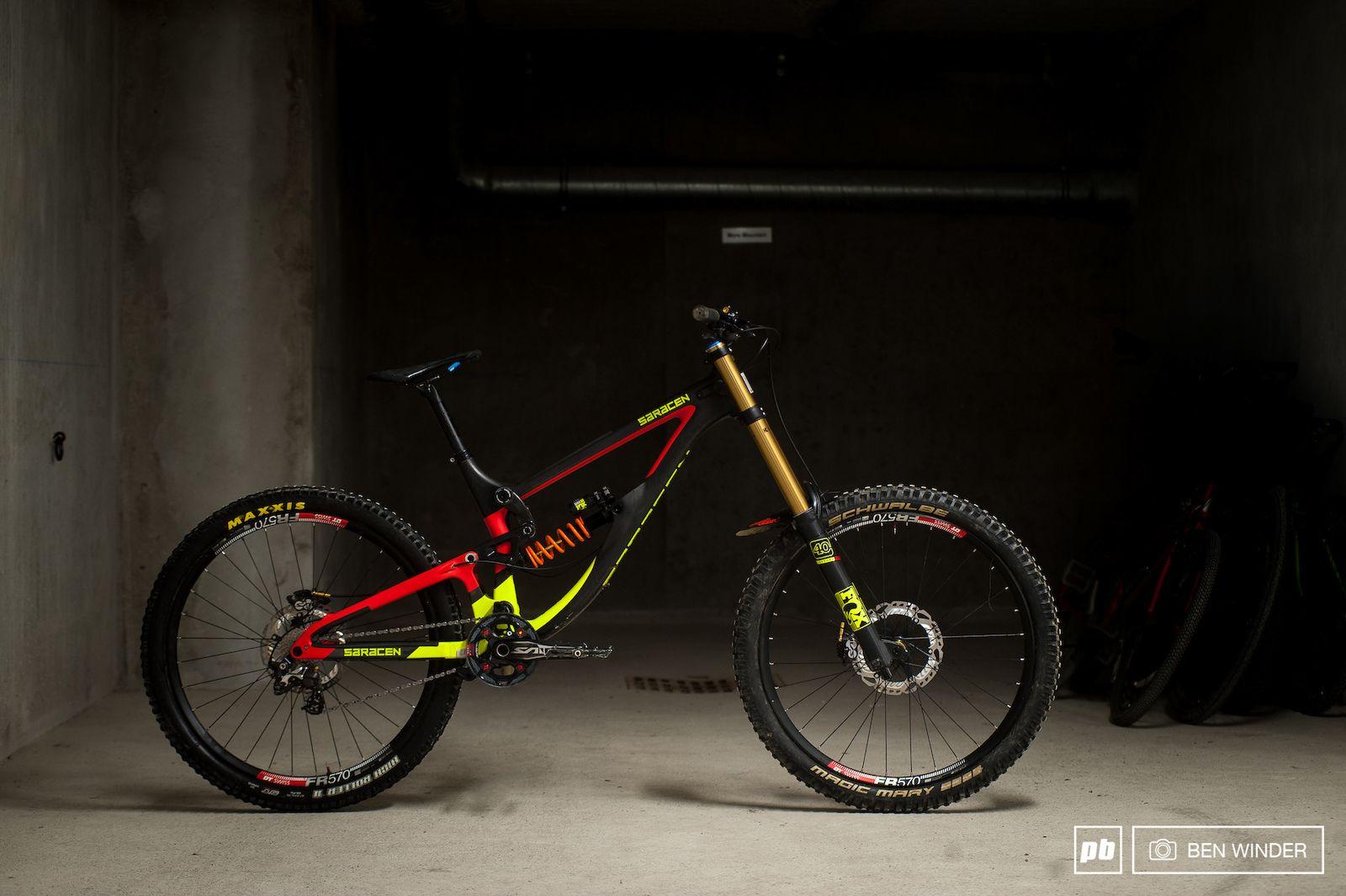 Saracen Myst Team Carbon Review Downhill Bike Pink Bike Bike