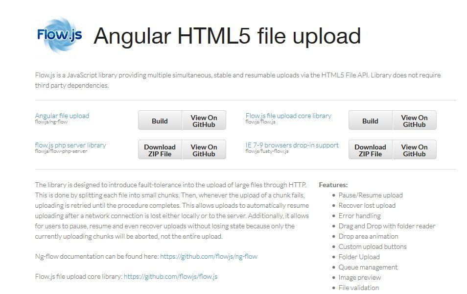 Flow js | JavaScript File Upload Library | Filing