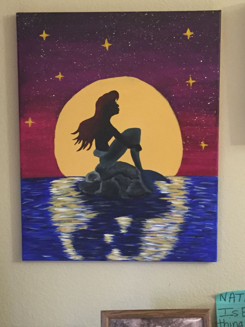 Ariel Painting Acrylic Paint Canvas Snlwrobinson Home