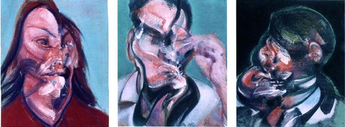 Three Studies for Portraits: Isabel Rawsthorne, Lucian Freud and J.H., 1966