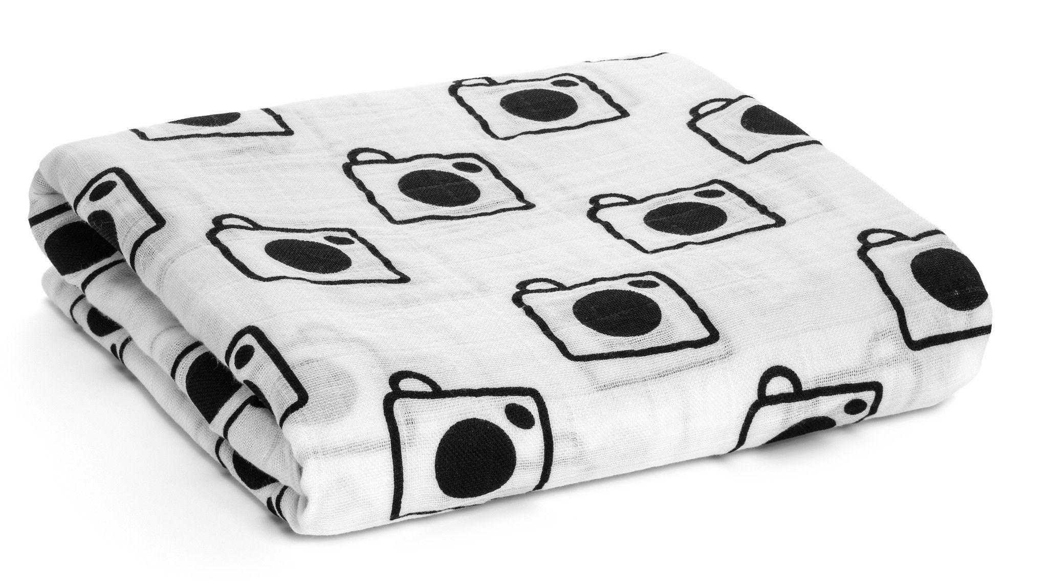 Vintage Camera Swaddle Blanket