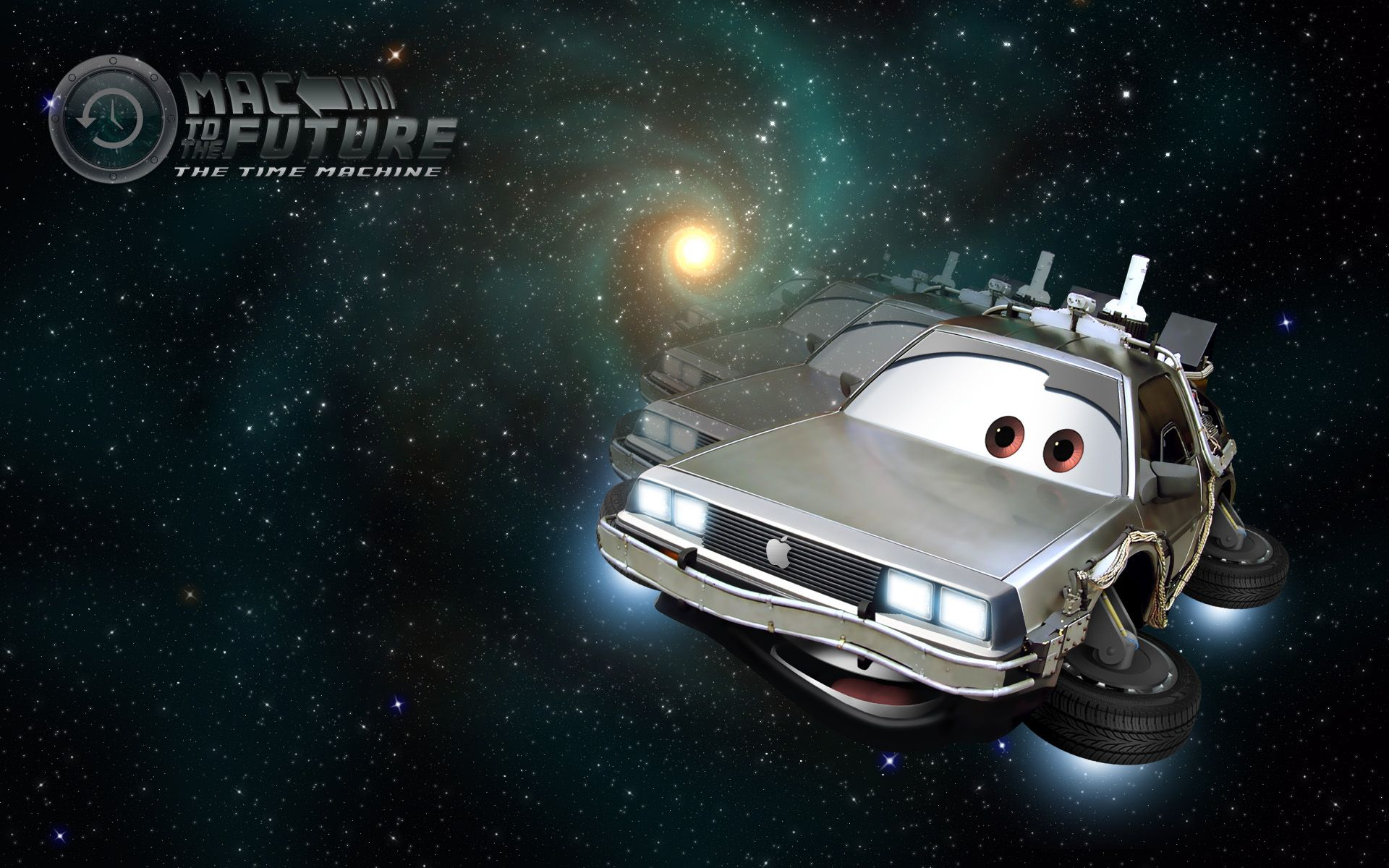 The DeLorean time machine is a fictional automobilebased