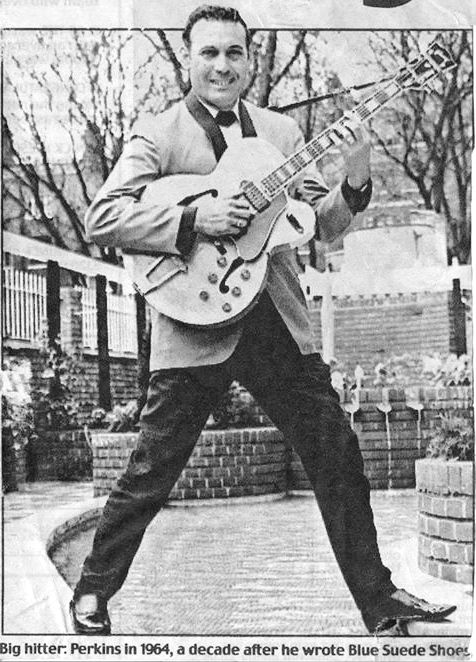 Newspaper clipping of Carl Perkins, Jackson Tennessee, 1964.