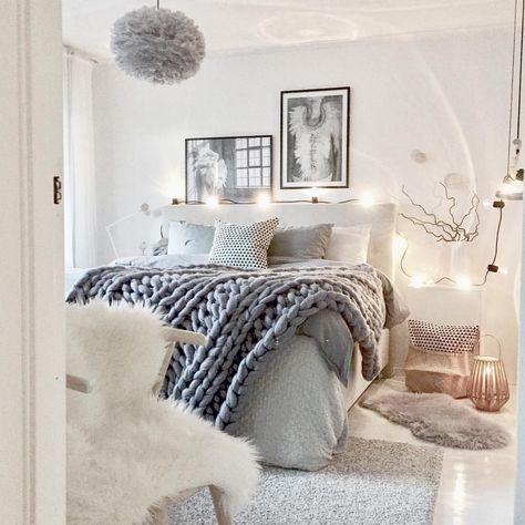 lichte slaapkamer gezellige slaapkamer decor grijs kamerdecor neutrale slaapkamer inrichting minimalistische slaapkamer