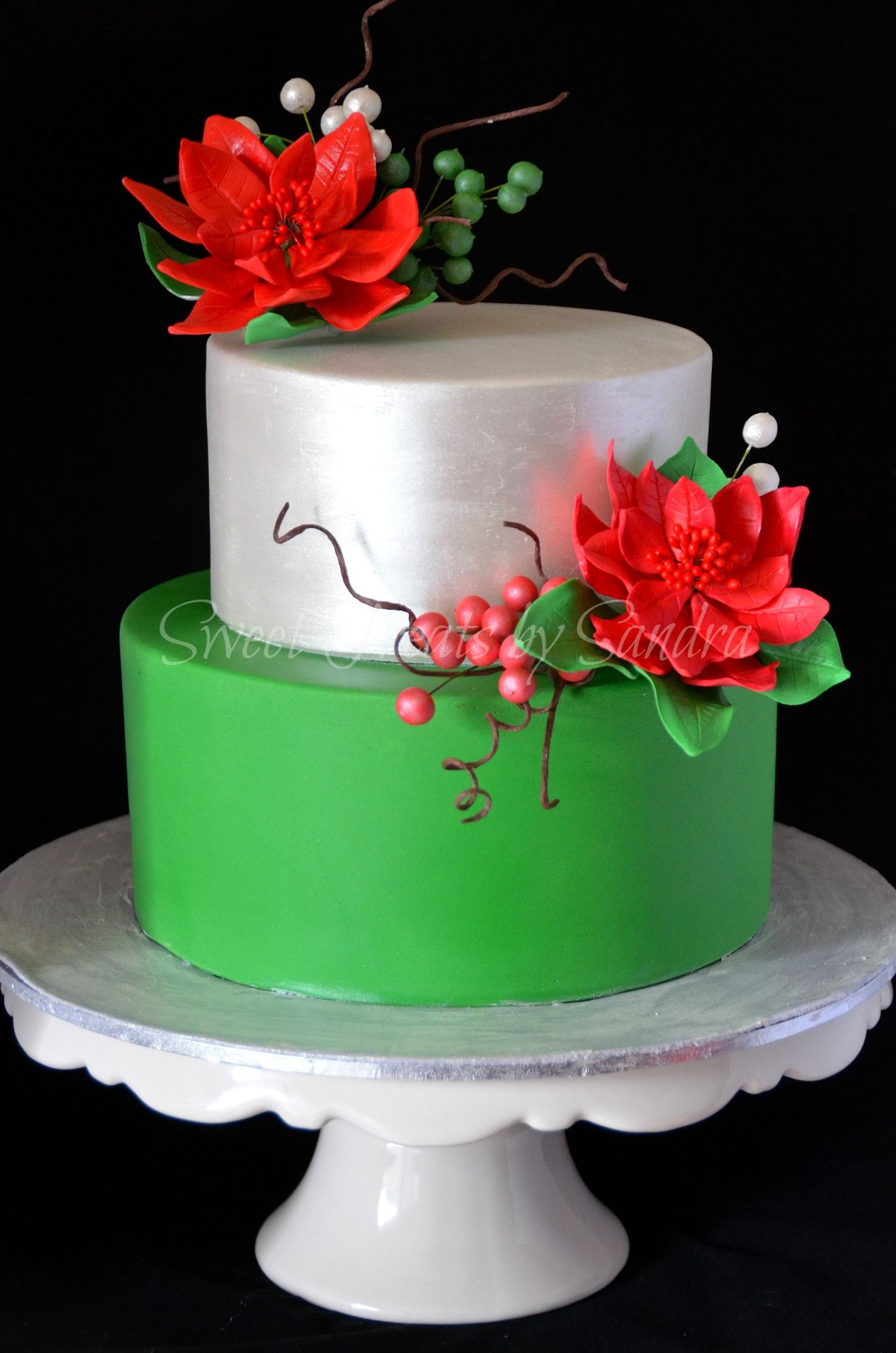An elegant christmas birthday cake AppleMark Christmas