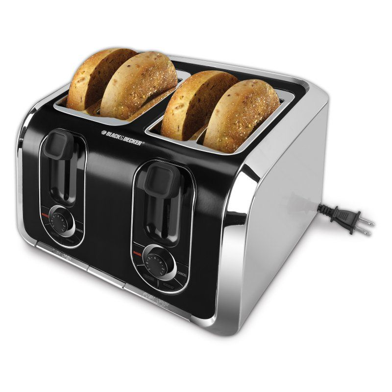 Black Decker Tr1400sb 4 Slice Toaster 050875804340 With Images Stainless Steel Toaster Toaster Black Decker