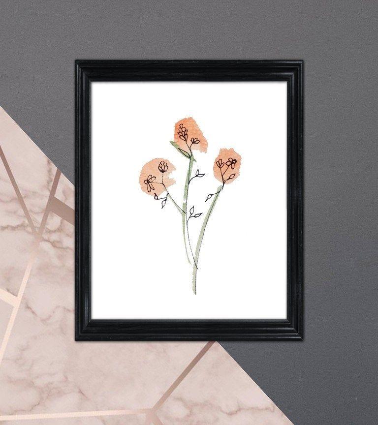 Watercolor Flower Watercolor Print Gallery Wall Art Modern