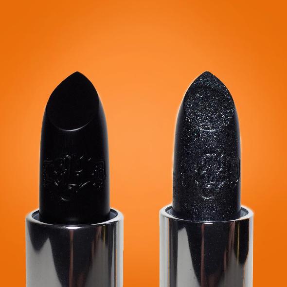 Studded Kiss Lipstick in #Slayer -matte black + #NaYeon -sparkle ...