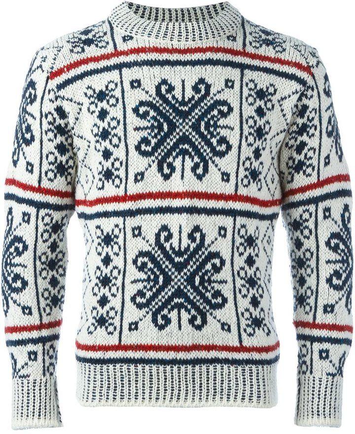 Thom Browne Fair Isle knit jumper   Men's Sweaters   Pinterest ...