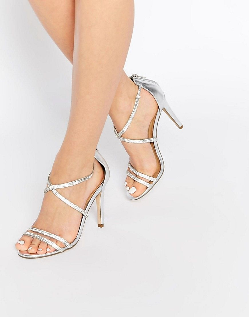 d9753443e81 ALDO Arenani Silver Cross Front Heeled Sandals