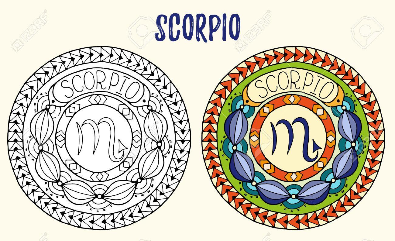 Resultado De Imagen Para Mandalas Signo Escorpio Signo Escorpio Mandalas Escorpio