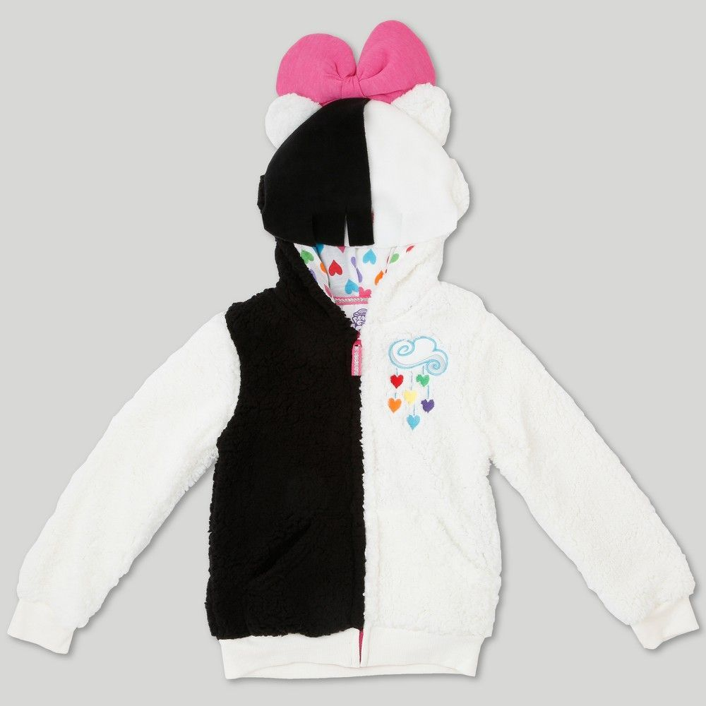 c45b136b4c5 Girls  My Little Pony Songbird Serenade Costume Hoodie - Black White ...