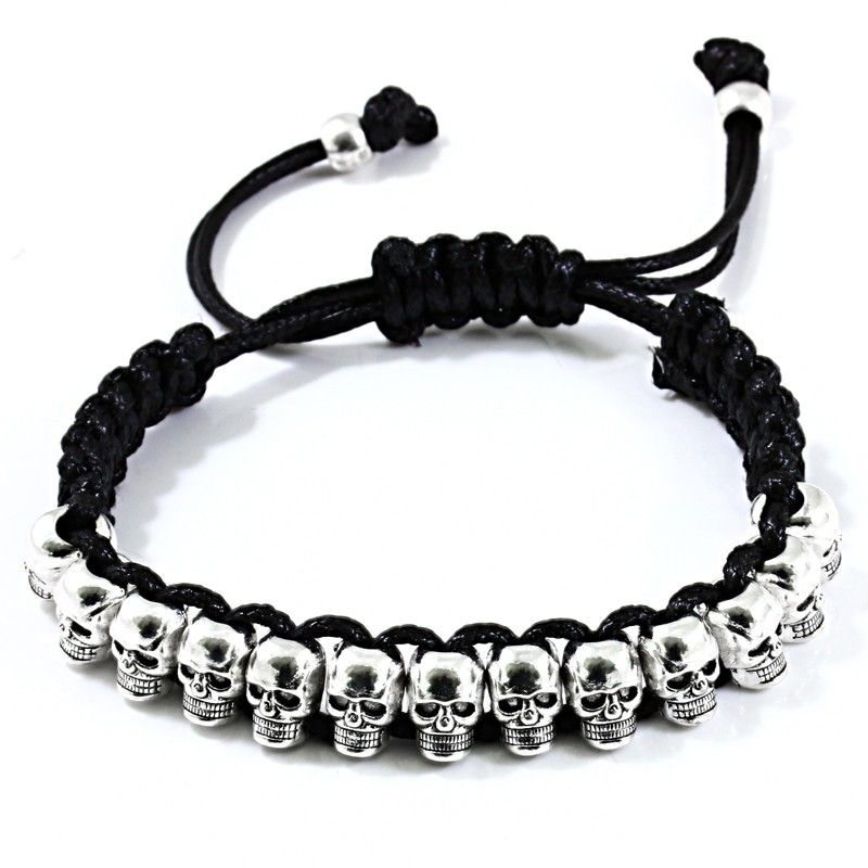 bracelet tete de mort shamballa prix cass bijoux. Black Bedroom Furniture Sets. Home Design Ideas