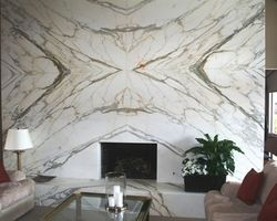 Bookmatched Marble Fireplace Surround Marble Wall