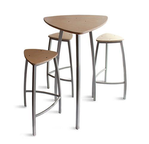 mange debout et tabourets delta table haute et tabourets haut en bois en contre plaqu de. Black Bedroom Furniture Sets. Home Design Ideas