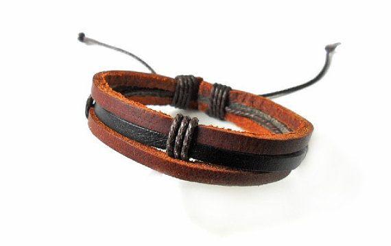 Fashion leather bracelet men bracelet boys by braceletbanglecase, $3.00