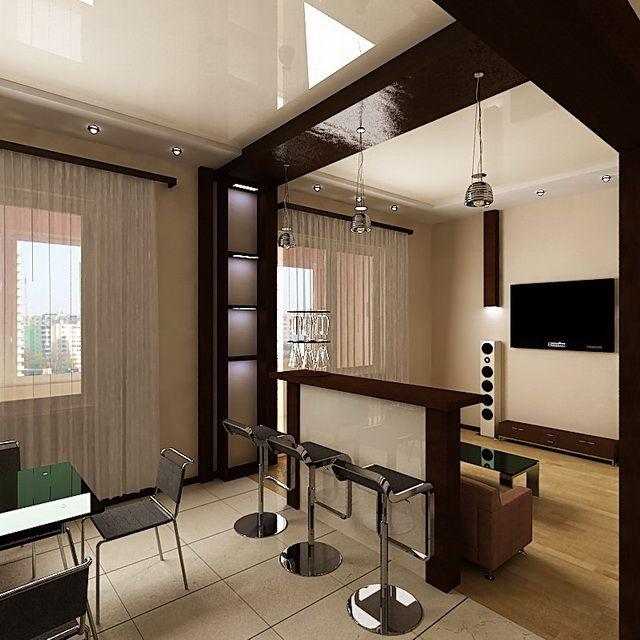 Дизайн комнаты в квартире кухня с комнатой