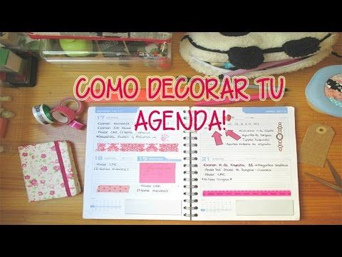 Como decorar tu agenda chicasinsentido diy youtube manualidades agendas diy y manualidades - Como decorar una agenda ...