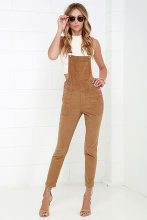 f85aaa6cdcd Corduroy Overalls - Tan Overalls - High-Waisted Overalls -  58.00 ...