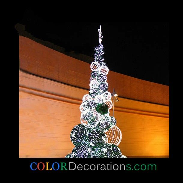 wholesale custom cd tr112 led lighting balls christmas trees decorations