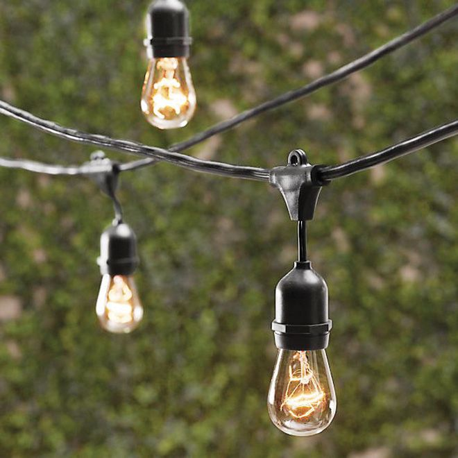Restoration Hardware Party Globe Light String: 12-ft Black String With Bulbs, Ideal For #gazebo